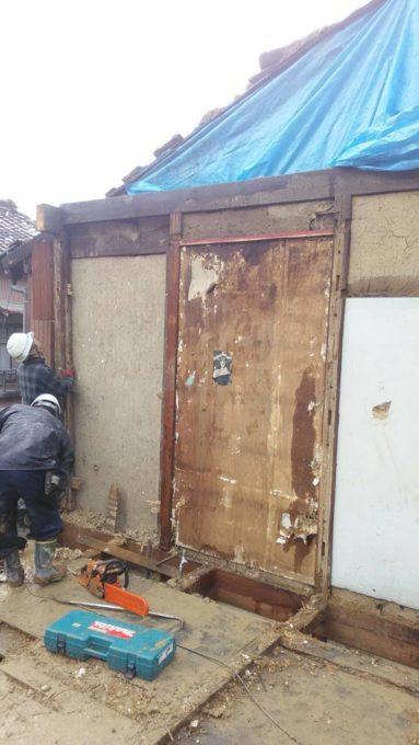 画像:I様邸の2階解体工事中の写真