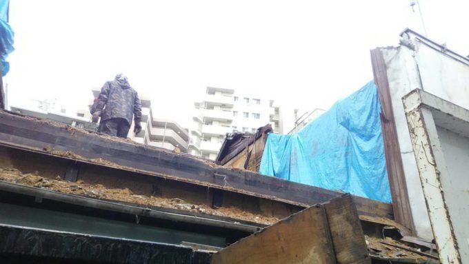画像:I様邸の解体工事中の写真
