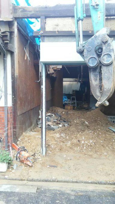 画像:I様邸 解体工事中の写真