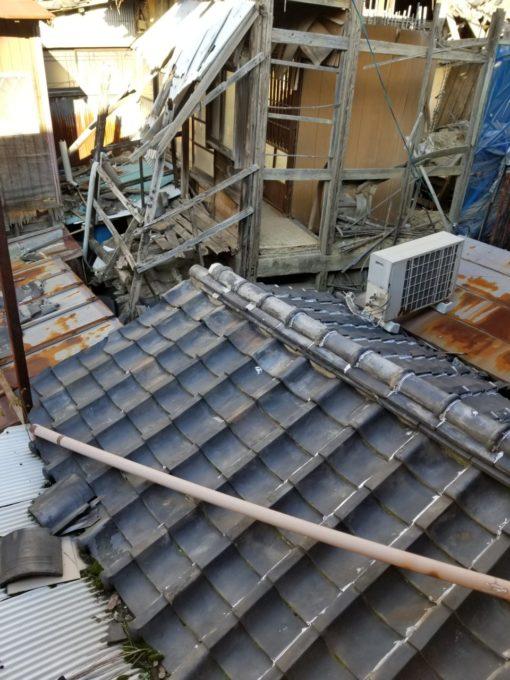 画像:I様邸 屋根解体前写真