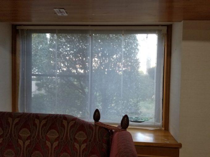 画像:O様邸 リビング窓カーテン取替え前