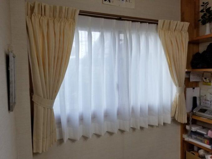 画像:O様邸 ダイニング窓カーテン取替え後の写真