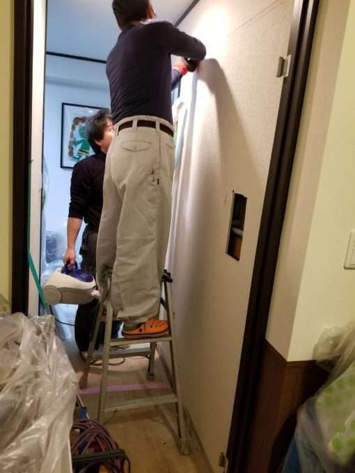 画像:Y様邸 片開き戸から引戸工事の壁開口前の写真