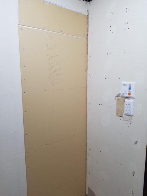 画像:Y様邸 片開き戸から引戸工事内装下地の写真