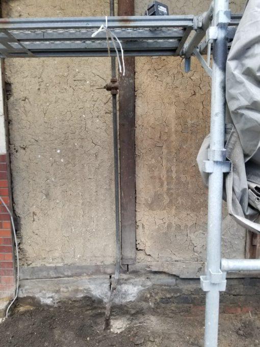 画像:I様邸 外壁補修前の壁の一部拡大写真