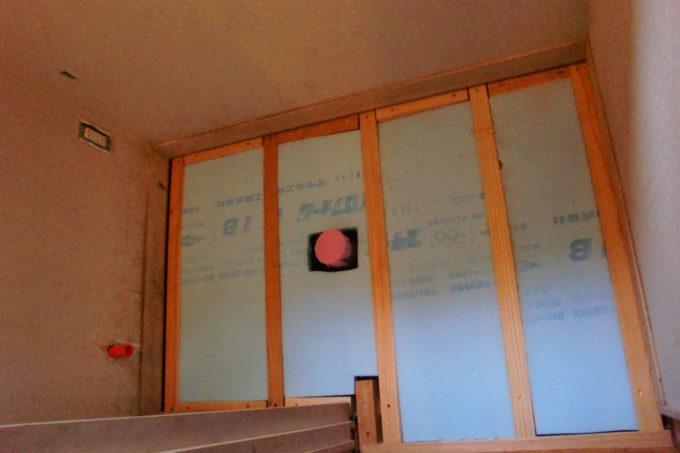 画像:O様邸 1Fトイレ床施工中の写真