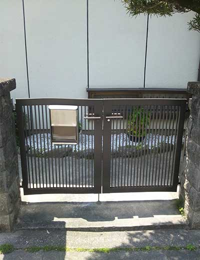 門扉取替え工事後