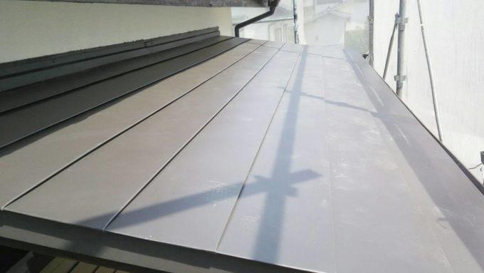 画像:N様 施工後 2階ベランダ屋根の写真