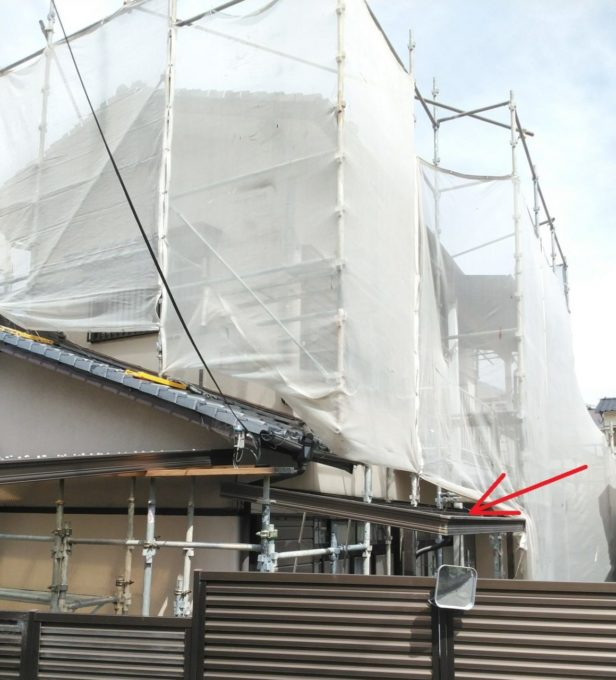 画像:N様 施工中 足場の写真