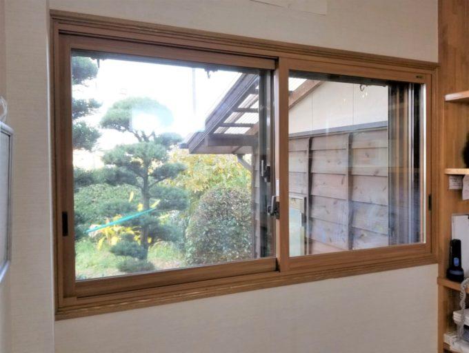画像:O様 ダイニング窓の内窓取付後の写真