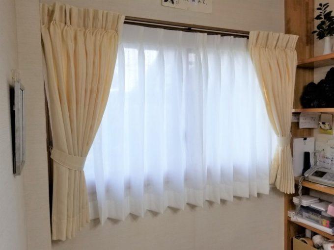 画像:O様 ダイニング窓のカーテン取り付け後の写真