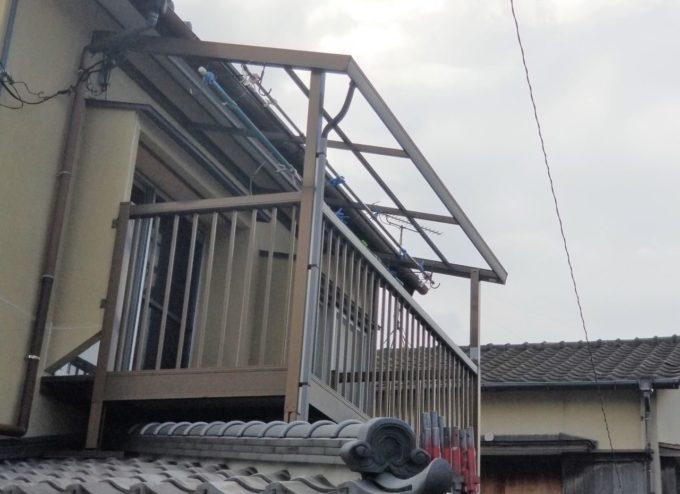 画像:N様邸 バルコニー屋根撤去後の写真