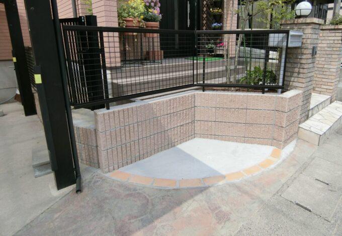 画像:M様邸 駐輪スペース施工完了の写真