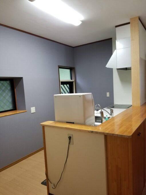 画像:I様邸キッチン工事後 キッチン横からの写真