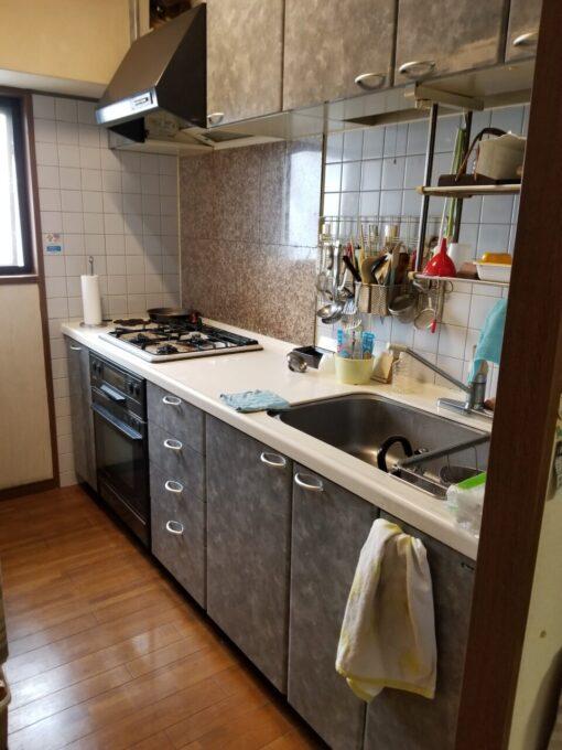 画像:K様邸 キッチン施工前全体の写真