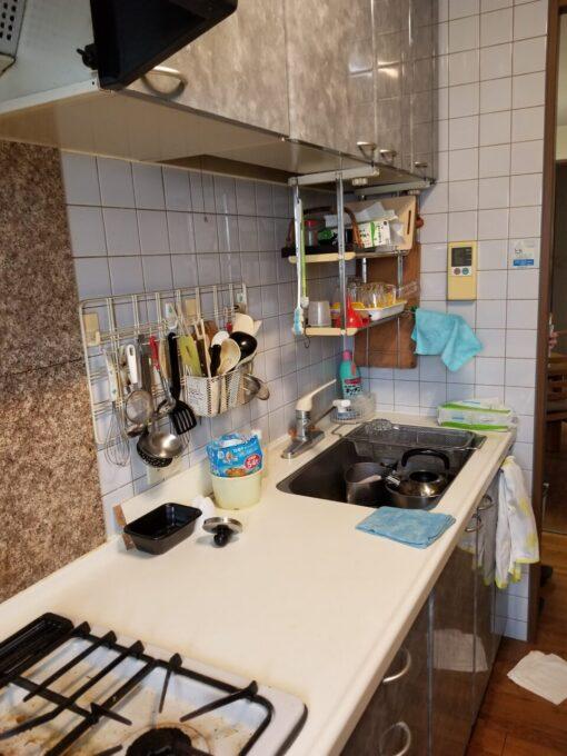 画像:K様邸 キッチン シンク側施工前の写真
