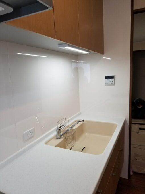 画像:K様邸 キッチン シンク側施工後の写真