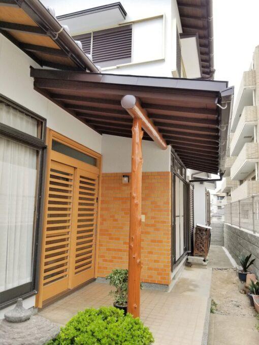 画像:K様邸 塗装後(玄関廻り)